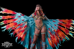 Ikran Frontline option with small head piece, wings , legs , arm sleeve. Shown with wire bra and gem bikini body option