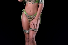 Standard backline includes small head pc , arms legs, bra with belt and necklace