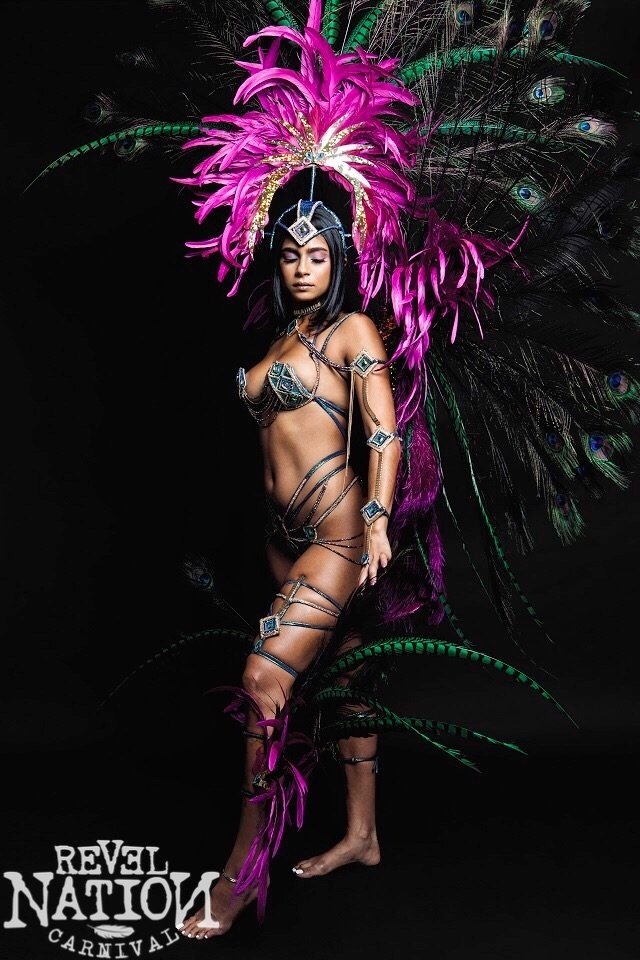 Section Leader, w L Feather BP, L Feather HP, Gem Bra + Strappy Gem Panty + L Feather Legs